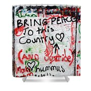 Bring Peace Shower Curtain
