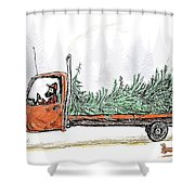 Bringing Home To The Mrs. Shower Curtain