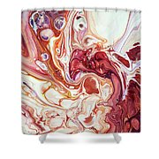 Bringing Into Life Fragment 2. Fluid Acrylic Painting Shower Curtain