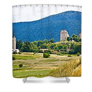 Brinje Village In Nature Of Lika Shower Curtain
