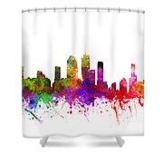 Brisbane Australia Cityscape 02 Shower Curtain
