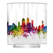 Brisbane Australia Cityscape 06 Shower Curtain