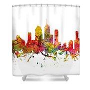 Brisbane Australia Cityscape 08 Shower Curtain