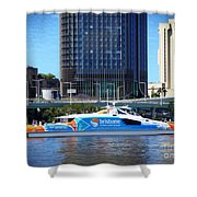 Brisbane City Cat. Shower Curtain