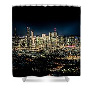 Brisbane Cityscape From Mount Cootha #7 Shower Curtain