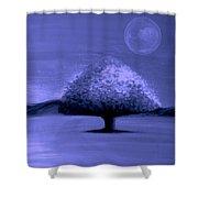 Brisk Silver Moon Shower Curtain