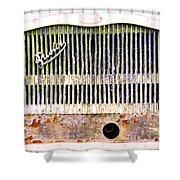 Bristol Bus Grill Shower Curtain
