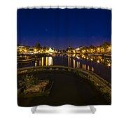 Bristol Docks By Night  Shower Curtain