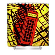 Brit Phone Box Shower Curtain