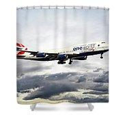 British Airways 747 G-civi Shower Curtain