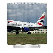 British Airways A318-112 G-eunb Shower Curtain