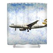 British Airways A319 Feather Design Art Shower Curtain