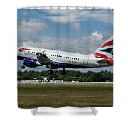 British Airways Airbus A318-112 G-eunb Shower Curtain