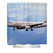 British Airways Airbus A319-131 Shower Curtain