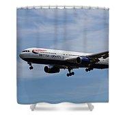 British Airways Boeing 767 Shower Curtain