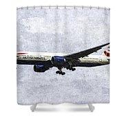 British Airways Boeing 777 Art Shower Curtain