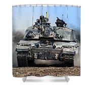 British Army Challenger 2 Main Battle Tank   Shower Curtain