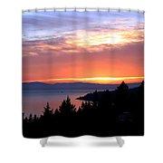 British Columbia Sunset Shower Curtain