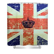 British Flag And Royal Crown Shower Curtain
