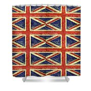 British Flag Collage One Shower Curtain