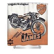 British James Comet Motorcycle  1948 Shower Curtain