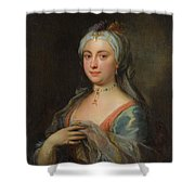 British Lady Mary Wortley Montagu Shower Curtain
