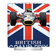 British Lotus Shower Curtain