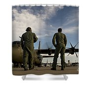British Royal Air Force C-130j Shower Curtain