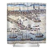 British Ships Of War, Landing Troops Shower Curtain
