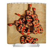 British Sound Stage Shower Curtain