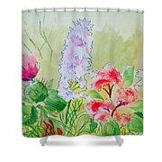 British Wild Flowers Shower Curtain