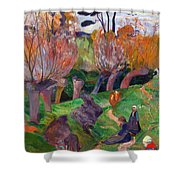 Brittany Landscape With Cows Shower Curtain