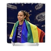 Brittney Griner Lgbt Pride 4 Shower Curtain