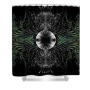 Broach Of Dried Leaves Shower Curtain