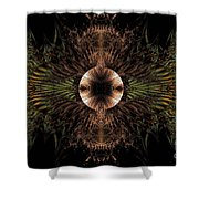 Broach Of Dried Leaves / Warm  Shower Curtain