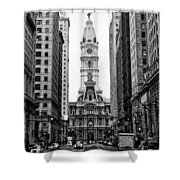 Broad Street At City Hall Shower Curtain