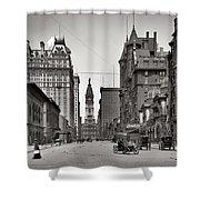 Broad Street Philadelphia 1905 Shower Curtain by Bill Cannon