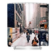 Broadway And 42nd Street 1985 Shower Curtain