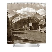 Broadway In Skagway Alaska Street Scene Circa 1957 Shower Curtain