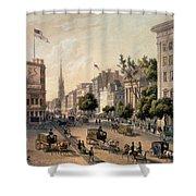 Broadway In The Nineteenth Century Shower Curtain by Augustus Kollner