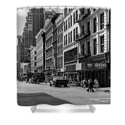 Broadway, New York In Black And White Shower Curtain