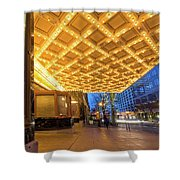 Broadway Theater Marquee Lights In Downtown Shower Curtain