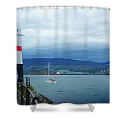 Brockton Point Lighthouse In Stanley Park Shower Curtain