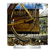Broken Bicycle Shower Curtain