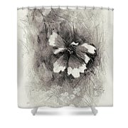 Broken Blossom Shower Curtain