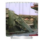 Broken Freeway Oakland Earthquake Shower Curtain