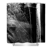 Broken Glass Window Shower Curtain