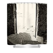 Broken Millstone Shower Curtain