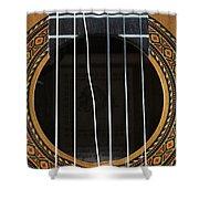 Broken String On A Classical Guitar Shower Curtain