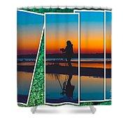 Broken Sunset Shower Curtain